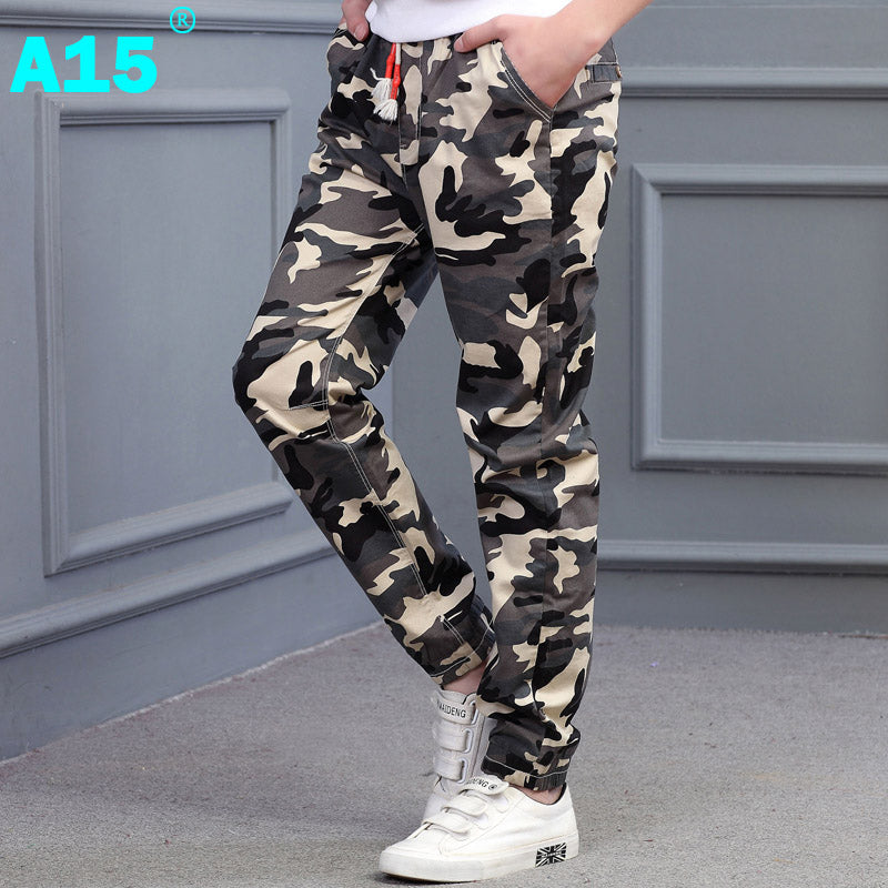 16f761527 A15 Teenage Boy Clothing Kids Camouflage Trousers Kids Pants Boys ...