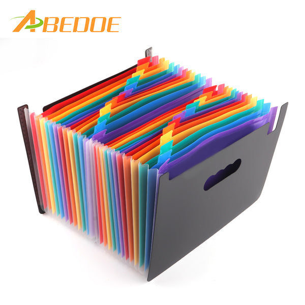 ABEDOE 24 Pockets Portable Expanding Files Folder Stand Expandable Accordion A4 File Document Bag