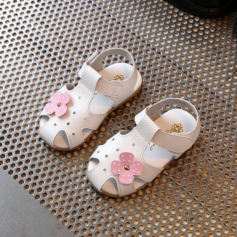 41bfb9ab9673 Aercourm A 2018 girls Summer Sandals New Baby Sandals Flowers Girls ...