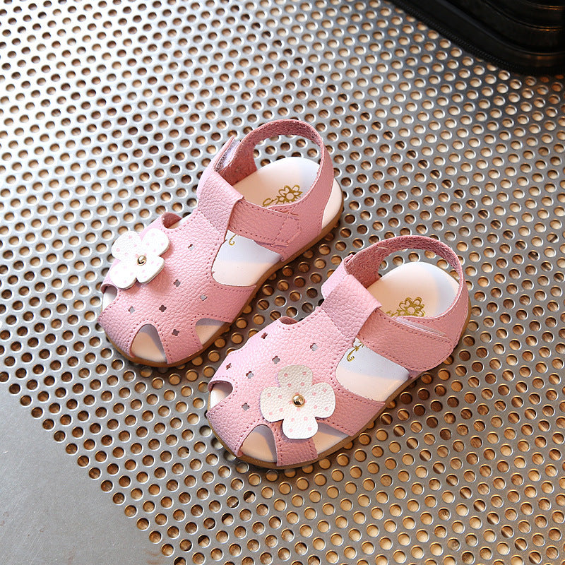 a6281aacb32b Aercourm A 2018 girls Summer Sandals New Baby Sandals Flowers Girls flat  Sandals Children Summer Shoes Solid White Red Pink
