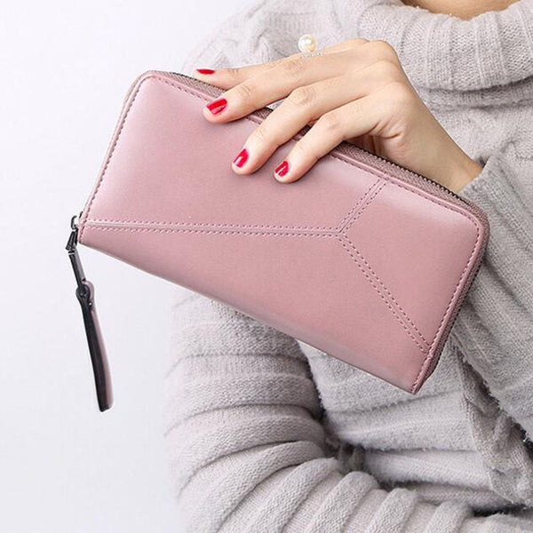 Atrra-Yo wallet women fashion women wallet dollar price leather purse Female Zipper Clutch Coin Purse Ladies high quality A99ay