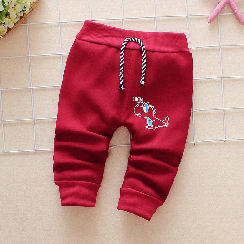 6378c511d8e2 Autumn and winter and warm baby pants 1 piece cotton cartoon bicycle ...