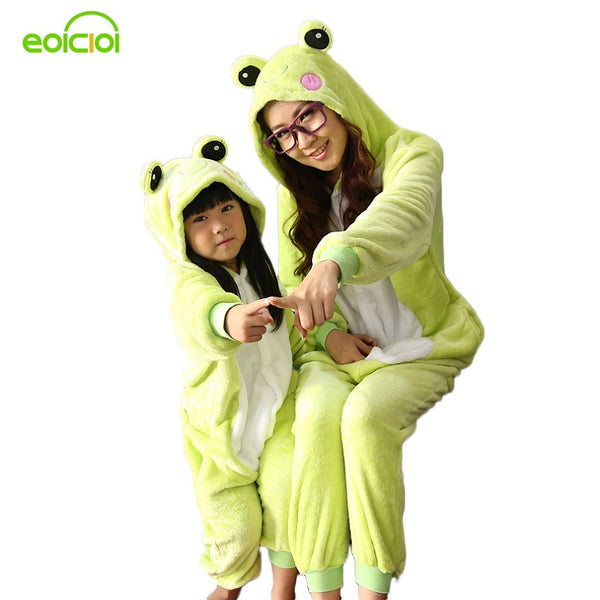 Autumn winter family matching outfits Boy girl animal pajamas one piece sleepwear adult christmas pyjamas family clothing sets