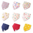 Baby Bibs For Boy&Girl bandana bib Burp Cloth Print animal Triangle Cotton Baby Scarf Meal