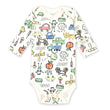 Baby Bodysuit Newborn Boy Jumpsuit Infant Toddler White Printed long sleeves 100% cotton Babies
