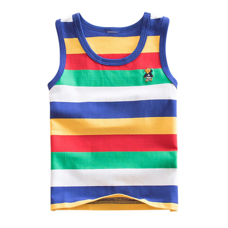 5a34e0c66 Baby Boy Clothes Short Sleeve Kids Boy T-Shirts Toddler Sleeveless Striped Tops  Tee Children Clothing For Boys – Beal | Daily Deals For Moms