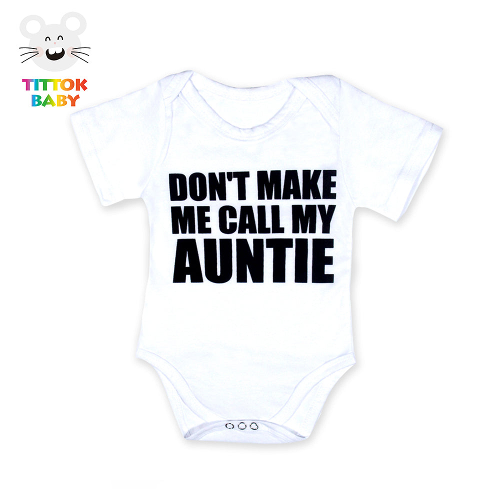 e0c23a7207105 Baby Boy Girl Clothes Funny Hello Daddy Little Brother Letter Tiny ...