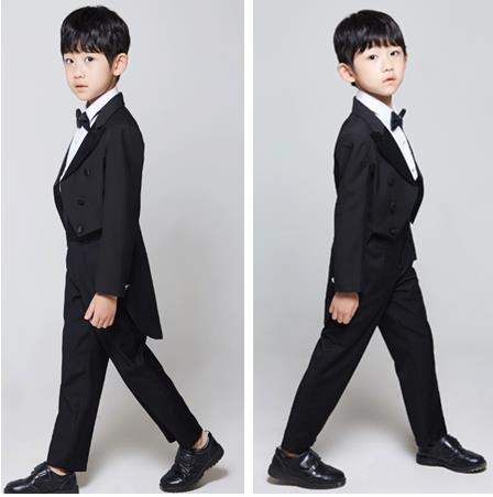 Baby Boys Formal Blazer Suits for Weddings Toddler white/black suits 5pieces/set Costume Infant