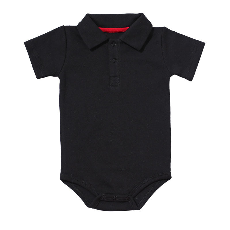 028fd658f51d Baby Boys Rompers Summer Polo Shirt Infant Jumpsuit Solid Cotton ...