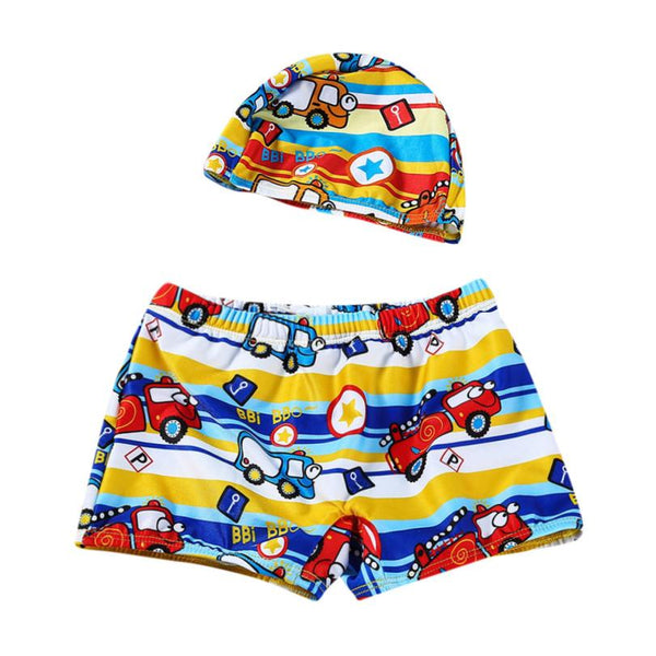 ae81683c1cdce Baby Boys Swimwear 6Color Trunks Cartoon Print Infant Swimsuit Toddler Kids  Bathing Clothes for