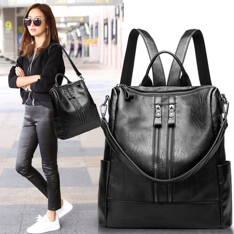 Baby Care Bags Faux Leather Diaper Backpack Woman Fashion Mummy Maternity Bag Nappy Changing Travel