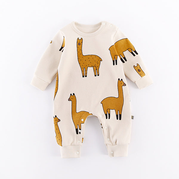 Baby Cute Animal Romper Boy Girls Jumpsuit Outfits Long Sleeve Clothes Infant Unisex Babies