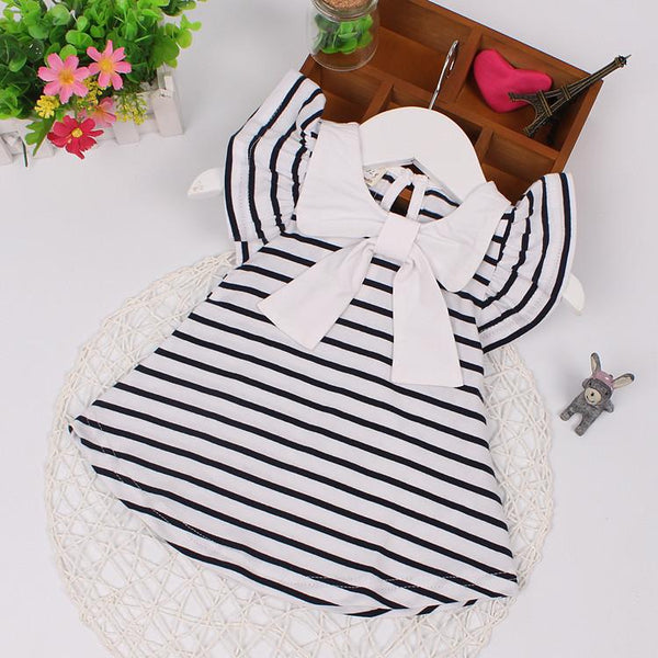 Baby Dress 2018 New Summer Kids Dresses for Newborn Girls Casual Striped Baby Girl Clothes Infant Princess Birthdays Clothing