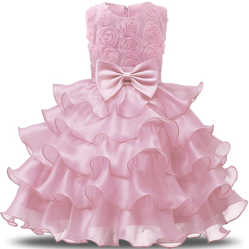 1f953e253a Baby Dresses For Girl Infant Party Wear Baby Girl 1st Birthday Outfits  Newborn Bebes Christening