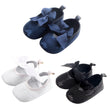 Baby First Walker Baby Girls Princess Bowknot Lace Soft Soles Crib Shoes Prewalker Anti-slip
