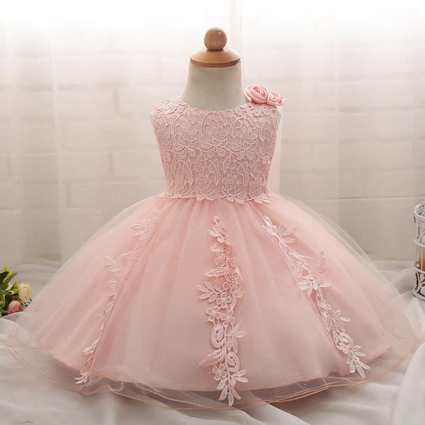 Baby Girl 1 Years Birthday Baptism Dress For Girl Party Frocks Infant Lace Christening Gown Tutu
