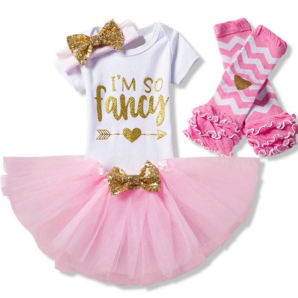 Baby Girl 1st Birthday Outfits Brand Tutu Dresses Toddler Baptism Clothes Christmas One