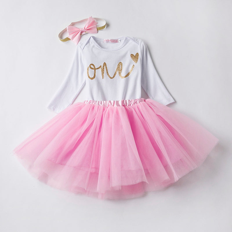 Baby Girl Clothes 1 Year Old Outfit One Birthday Sets Little Party Wear Romper Tutu Skirt Headband Toddler Suits Beal