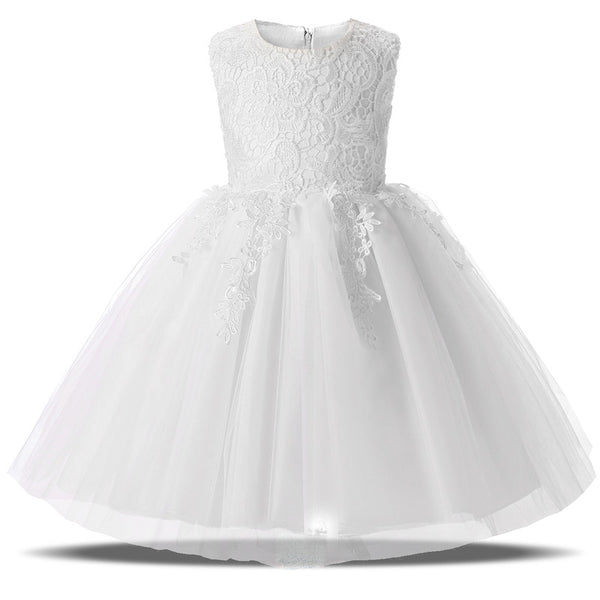 Baby Girl Dress Children Toddler Girl Clothes Wedding Bridal Tulle Party Prom Gown Designs Formal