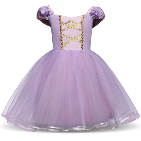 Baby Girl Dress Little Princess Fairy Vantage Purple Princess Costume Toddler Girl Clothes Photo