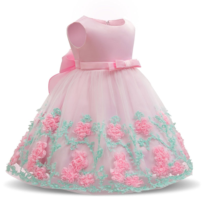 34fdd922b Baby Girl Floral Dress Baptism Dresses For Girls Princess 1 Year Birthday  Wedding Christening Gown Baby Infant Party Costume 24M – Beal | Daily Deals  For ...