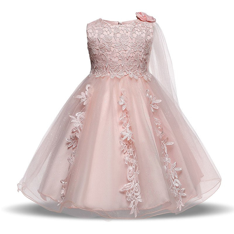 3c44dc313d63 Baby Girl Floral Dress Baptism Dresses For Girls Princess 1 Year ...