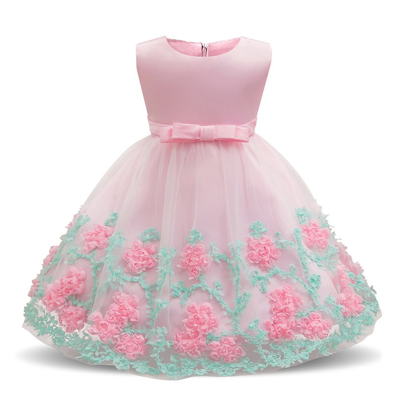 Baby Girl Floral Dress Baptism Dresses For Girls Princess 1 Year Birthday  Wedding Christening Gown a53b9ec6ac47