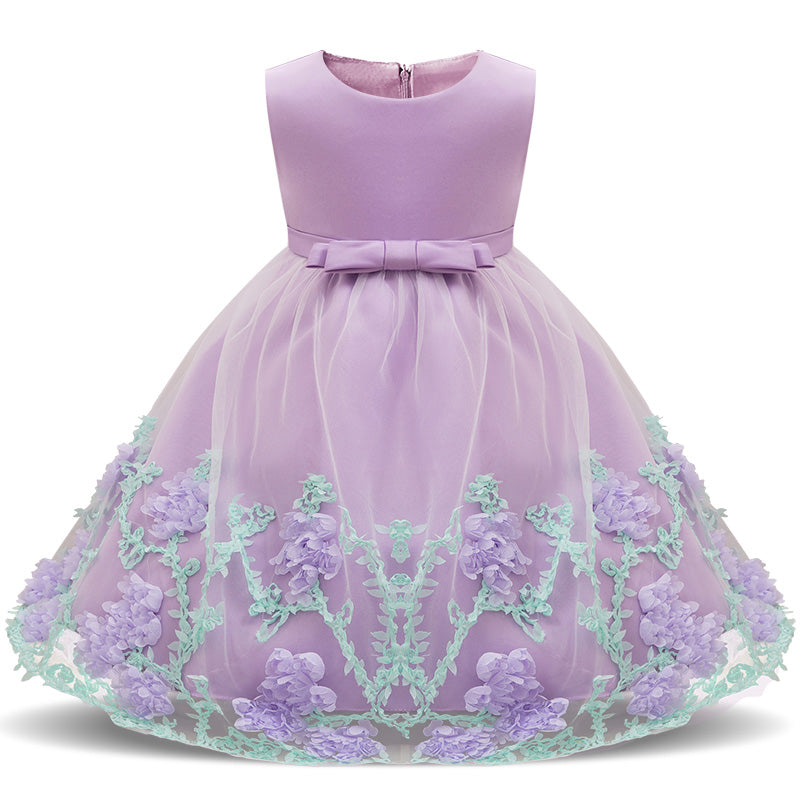 c575ac825aa36 Baby Girl Floral Dress Baptism Dresses For Girls Princess 1 Year Birthday  Wedding Christening Gown