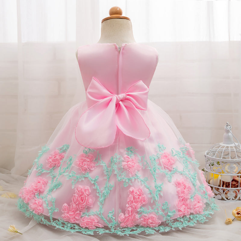 304644a9c Baby Girl Party Frock Dress Baptism Dresses for Girls 1st Year Birthday  Party Flower Wedding Christening Infant Clothing bebes – Beal   Daily Deals  For Moms