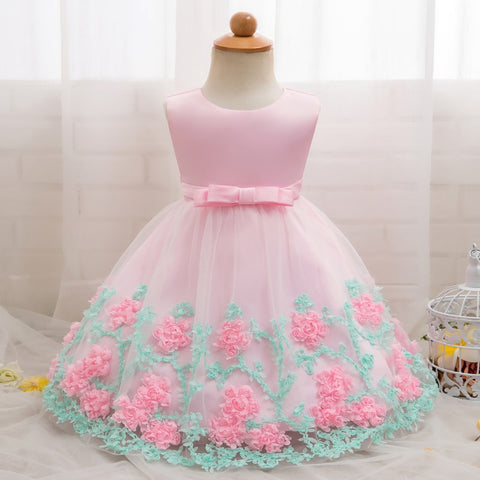 Baby Girl Party Frock Dress Baptism Dresses for Girls 1st Year Birthday Party Flower Wedding