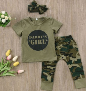 Baby Girls Boys Clothes Set 2018 New Summer Newborn Baby Girl Clothing  Short Sleeve T Shirt Pant Toddler Camouflage Outfits Set