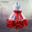 Baby Girls Evening Gown for Christmas Wedding Party Dress Big Kids Purple Red Hot pink Blue Ball Gown Children Birthday FH438