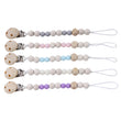 Baby Pacifier Clip Chain Wooden Holder Soother Pacifier Clips Leash Strap Nipple Holder For Infant Nipple Bottle Clip Chain