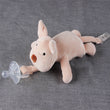 Baby Pacifier Newborn Infant Cartoon Animals Plush Nipple Soother Toys Babys Soother Nipple DogTiger Pacifier Clip T2009