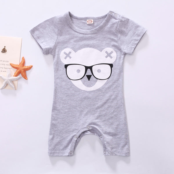 d066fc96baf2 Baby Rompers Newborn Baby Boy Clothes Cartoon Short Sleeve Baby Clothing  Roupa Infantil Body Bebes