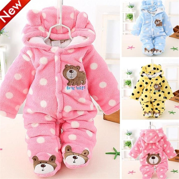 Baby Rompers Winter Baby Boy Clothes Cotton Newborn Baby Clothes 2017  Baby Girl Clothing Sets