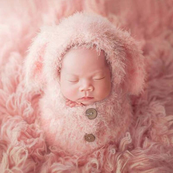 Baby Soft Sleeping Bag Hat Set Baby Girls Photo Shooting Clothes Newborn Photography Props