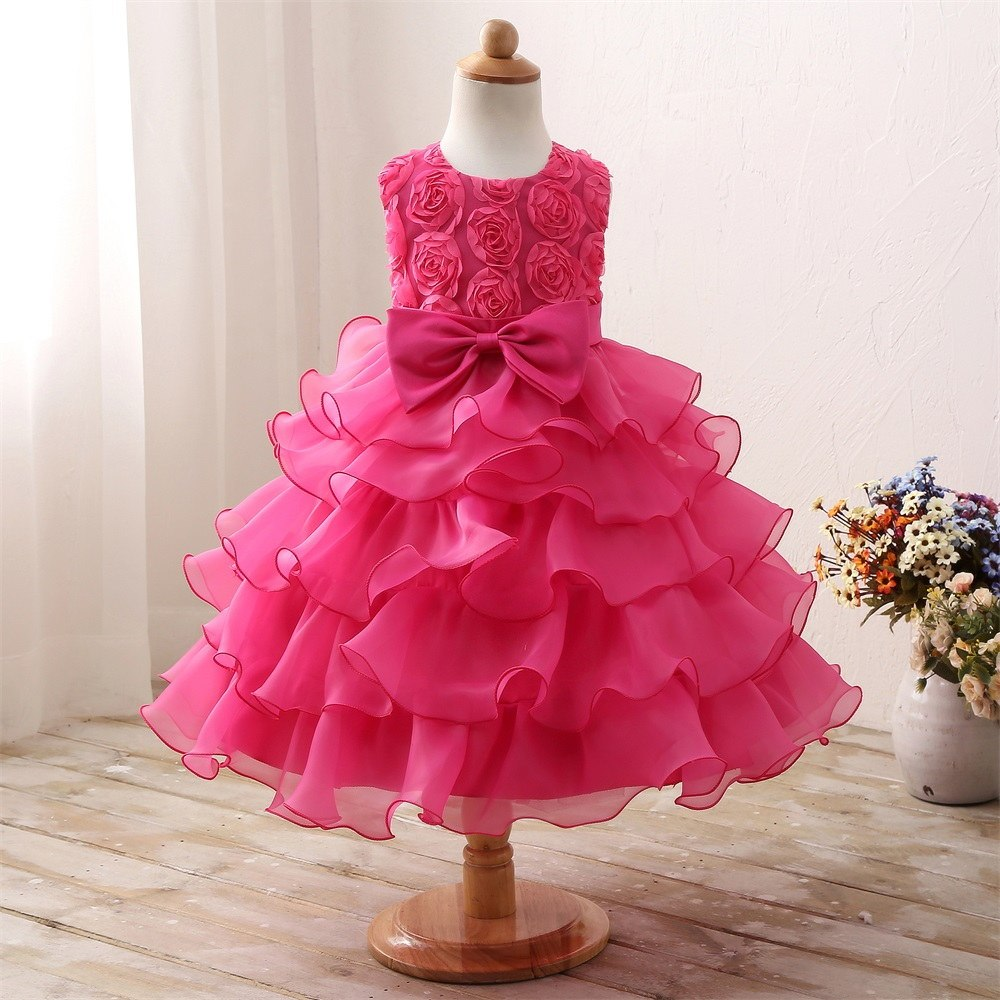 Baby Toddler Girl Flower Wedding Dresses 3 8 Year Birthday Outfits