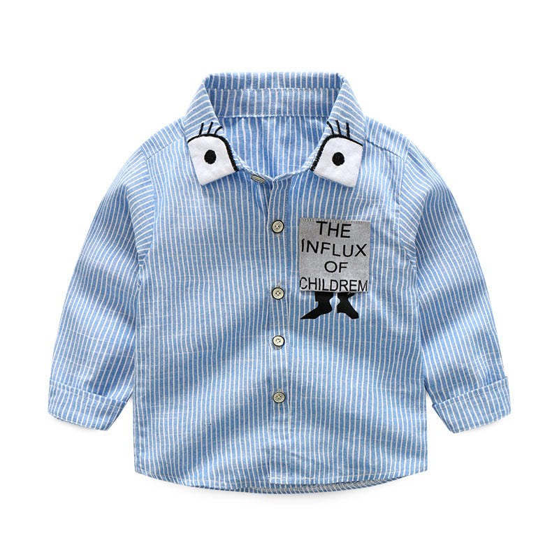 Baby clothing Shirt Striped Cartoon polo Shirts Fashion Long Sleeve For baby  Boys Spring 95%cotton baby shirt Casual Style AFD65 – Beal | Daily Deals  For ...