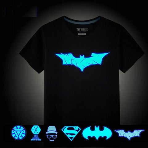 Batman Boys T-shirts Luminous T Shirt For Boys Tops Boy Polo Shirt Kids Night Shimmer And Shine