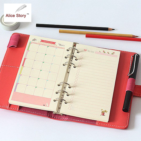 Beautiful Colorful Spiral Notebook Refill Insert A5 A6 A7 Size Diy Journal Inner Core Planner Diary Notebook Accessories