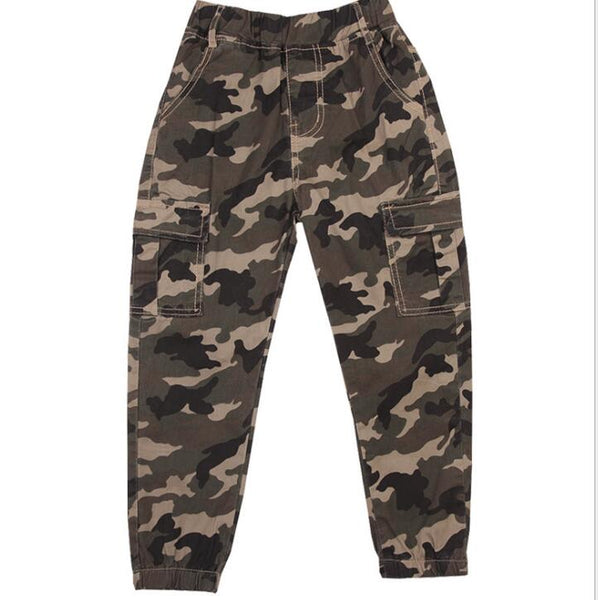 Big boys Casual Pants Children Outdoor Camo Pants Kids Army Design Camouflage trousers baby boys