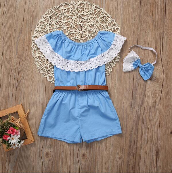 Blue Mother Daughter Dresses Ruffle Mother and Daughter Clothes Headband Family Matching Outfits Strapless Family look Clothing