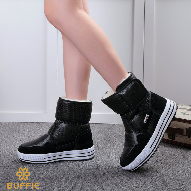 97aef33a762d4 Boots woman shoes winter female warm fur water-resistant upper plus ...