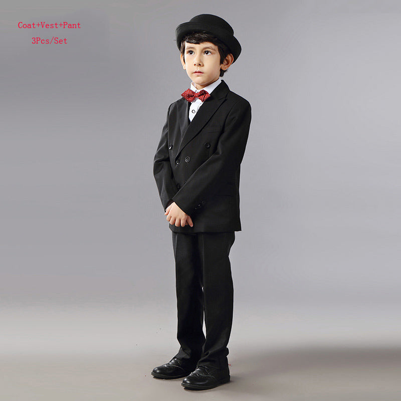 b4f3bd53f Boys Suits For Weddings Dress Kids Prom Suits Black Red Wedding ...
