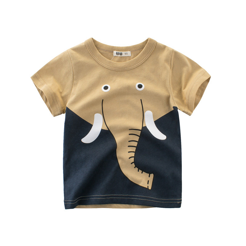 Brand Baby Boy Tops Summer Clothes Boys T shirt High quality Cotton Animal Printed Clothing