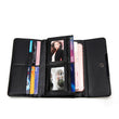 Brand Design Women Long Wallets Purse Geometry Holographic Luminous Clutch Female Phone Bag Three