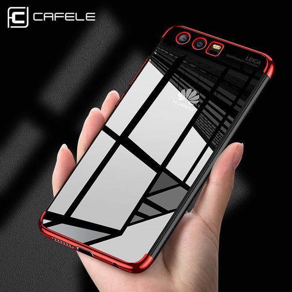 CAFELE soft TPU case for huawei P10 plus cases ultra thin transparent plating shining case for huawei P10 Mixed silicon cover