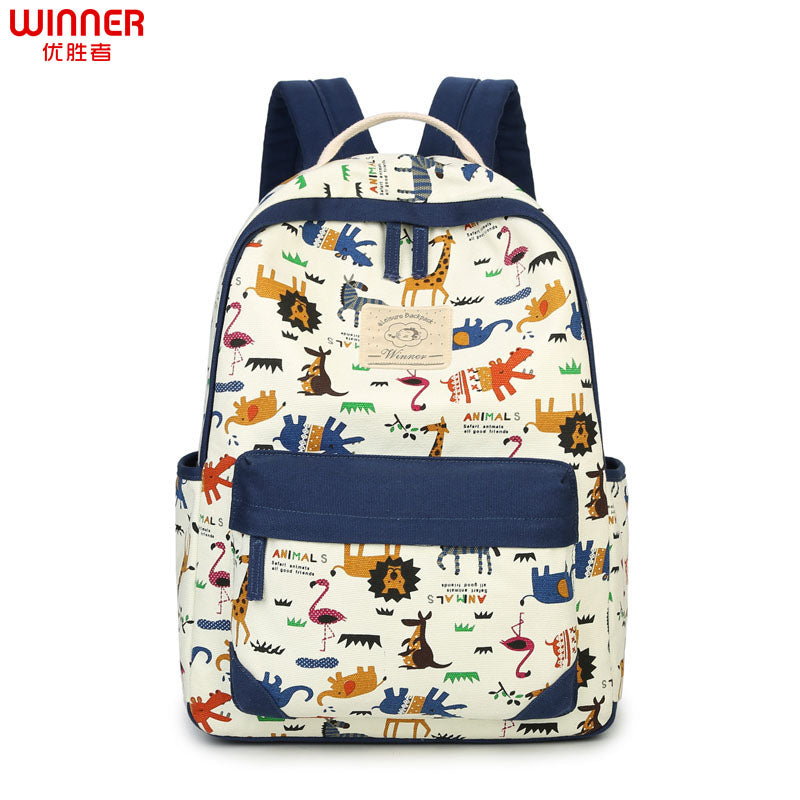Cartoon Animal Printing Cute Fashion School Book Bags For Teenage Girls Laptop Travel Bagpack