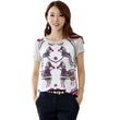 Cartoon Horse Print T-Shirt 2016 Womens Summer Cute O Neck T Shirt Tops Fashion Short Sleeve Gray Tshirt Women A247